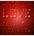 Abstract Red Background Love Title from Water vector image