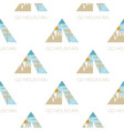adventure seamless pattern with camping tent vector image vector image