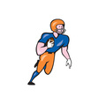 American Football Player Rusher Run Cartoon vector image vector image