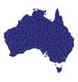 australia map mosaic vector image vector image
