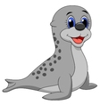 Baby seal cartoon vector