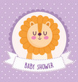 baby shower lion vector image vector image