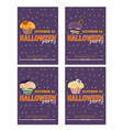 background with halloween cupcake - invitation to vector image vector image