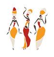 beautiful dancers silhouette vector image