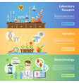 Biotechnology And Genetics Horizontal Banners vector image vector image