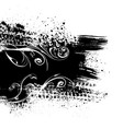black splash background vector image