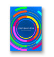brochure layout with colorful circles colorful vector image vector image