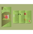 brochures and flyer design template in polygonal vector image vector image