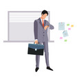 businessman late for an appointment vector image vector image