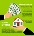 buy house poster vector image vector image