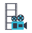 camera projector and reel strip production movie vector image vector image