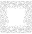 carnation flower outline border vector image vector image
