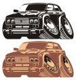 Cartoon car silhouettes