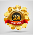 cash bank vault coins depository vector image vector image