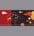 chinese new year 2021 year ox chinese vector image vector image