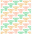 christmas seamless pattern - ugly sweaters vector image vector image