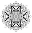 circular pattern mandala for henna mehndi vector image vector image