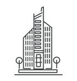 city building isolated icon bank or hotel real vector image