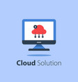 cloud services internet technology online file vector image