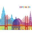 copenhagen skyline pop vector image vector image