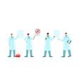 coronavirus covid19 2019 doctors vector image vector image