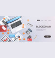 crypto currency block chain concept bitcoin mining vector image vector image