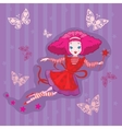 cute fairy cartoon vector vector image vector image