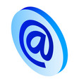 email sign icon isometric style vector image