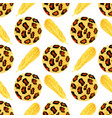 fashion seamless pattern with leopard texture and vector image vector image