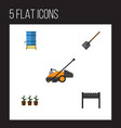 flat icon farm set of container flowerpot vector image vector image