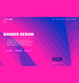 fluid colorful shapes website template trendy vector image