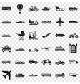 great transport icons set simple style vector image vector image