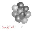 Grey balloons vector image