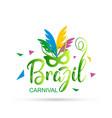 happy brazilian carnival festival new creative vector image
