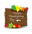 happy thanksgiving day colorful background vector image vector image