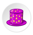 Hat of magician icon cartoon style vector image vector image