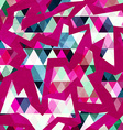 hipster geometric seamless pattern with grunge vector image vector image
