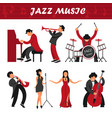 jazz music band musicians and singers performer vector image