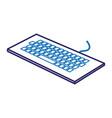 keyboard computer isometric icon vector image vector image