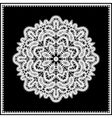 Lace doily vector image vector image