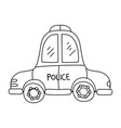 line emergency police car transport with siren vector image
