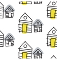 Line hut houses scandinavian ornament hand vector image vector image