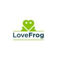 love frog logo design vector image