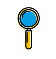 magnifier search business creativity symbol vector image vector image