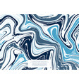marble pattern collection abstract texture navy vector image vector image