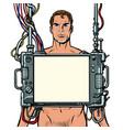 medical examination men internal organ scan vector image vector image