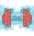 mental health day mechanic brain gears vector image vector image