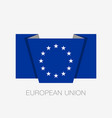 monochrome version european union flag flat icon vector image