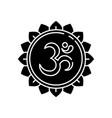 om black glyph icon vector image