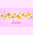 poster with easter camomile for decoration of vector image vector image